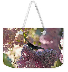 Weekender Tote Bag featuring the photograph Lilac World by Michele Myers