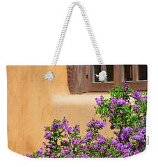 Lilacs And Adobe Weekender Tote Bag