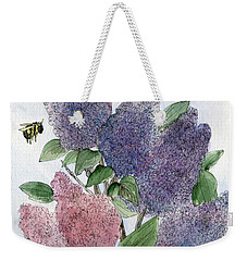 Lilacs And Bees Weekender Tote Bag