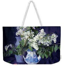 Lilacs And Blue Weekender Tote Bag