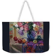 Lilacs And Peonies Weekender Tote Bag