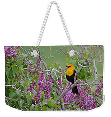 Lilacs And Yellowhead Blackbirds Weekender Tote Bag