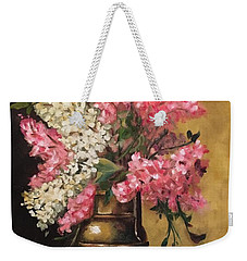 Lilacs Weekender Tote Bag by Sharon Schultz
