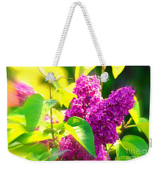 Weekender Tote Bag featuring the photograph Lilacs by Susanne Van Hulst