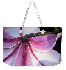 Weekender Tote Bag featuring the photograph Lilies Backside by Jean Noren