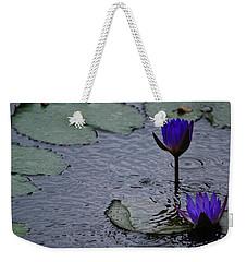 Lilies In The Rain Weekender Tote Bag