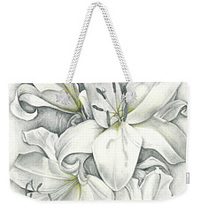 Lilies Pencil Weekender Tote Bag