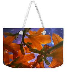 Star Gazing Lilies Weekender Tote Bag by Kathy M Krause