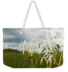 Lilies Thunder Weekender Tote Bag by Christopher L Thomley