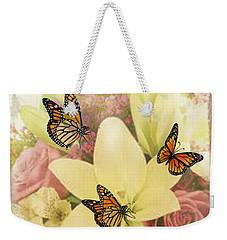 Lililies And Roses Weekender Tote Bag
