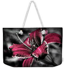 Weekender Tote Bag featuring the photograph Lilly 3 by Michaela Preston