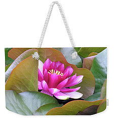 Weekender Tote Bag featuring the photograph Lilly In Bloom by Wendy McKennon