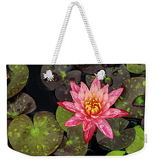 Lilly Pad, Red Lilly Weekender Tote Bag