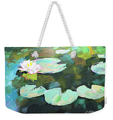 Lillypad Reflections Weekender Tote Bag
