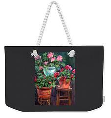 Lil's Geraniums Weekender Tote Bag