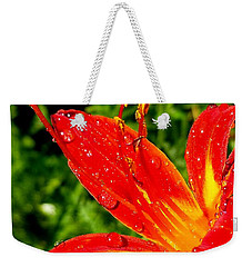 Lily And Raindrops Weekender Tote Bag