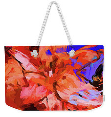 Lily Cobalt Orange Weekender Tote Bag