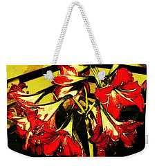 Weekender Tote Bag featuring the digital art Lily Gem by Winsome Gunning