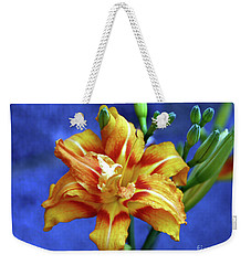 Lily In Blue Weekender Tote Bag