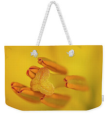 Weekender Tote Bag featuring the photograph Lily Love by Roy McPeak