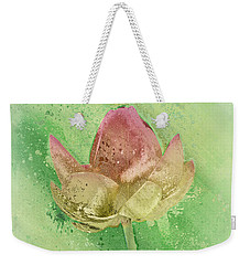 Weekender Tote Bag featuring the mixed media Lily My Lovely - S112sqc88 by Variance Collections