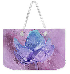Weekender Tote Bag featuring the digital art Lily My Lovely - S113sqc77 by Variance Collections