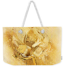Weekender Tote Bag featuring the digital art Lily My Lovely - S114sqc75v2 by Variance Collections