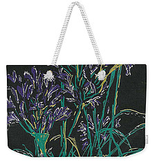 Weekender Tote Bag featuring the mixed media Lily Of The Nile  by Vicki  Housel
