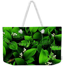 Lily Of The Valley Weekender Tote Bag by Elfriede Fulda