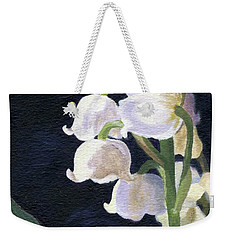Weekender Tote Bag featuring the painting Lily Of The Valley by Lynne Reichhart