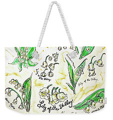 Weekender Tote Bag featuring the painting Lily Of The Valley by Monique Faella