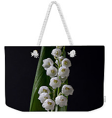 Lily Of The Valley On Black Weekender Tote Bag