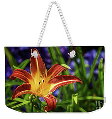 Lily On Violet Weekender Tote Bag