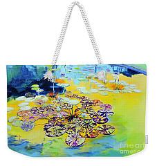 Lily Pad Dreams Weekender Tote Bag by Jodie Marie Anne Richardson Traugott          aka jm-ART