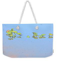 Lily Pad Glow Weekender Tote Bag