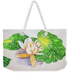 Lily Pad Weekender Tote Bag by J R Seymour