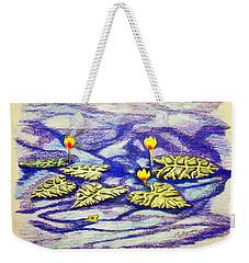 Lily Pad Pond Weekender Tote Bag by J R Seymour