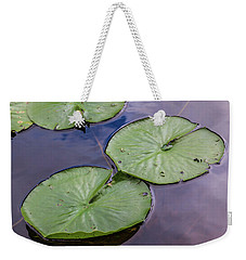 Lily Pad Reflections Weekender Tote Bag