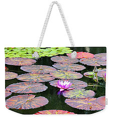 Lily Pads And Parasols Weekender Tote Bag