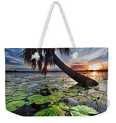 Lily Pads And Sunset Weekender Tote Bag