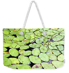 Lily Pads Weekender Tote Bag by Ellen Tully
