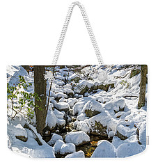 Lily Pads Of Snow Weekender Tote Bag by Angelo Marcialis