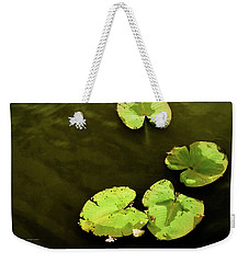 Weekender Tote Bag featuring the photograph Lily Pond by Jessica Manelis