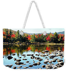 Weekender Tote Bag featuring the photograph Lily Pond - Kancamagus Highway - New Hampshire by Joseph Hendrix