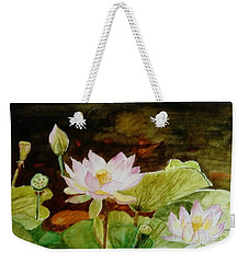 The Lily Pond - Painting  Weekender Tote Bag