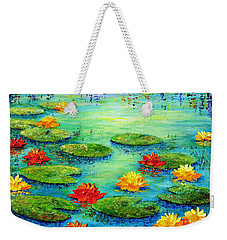 Lily Pond Weekender Tote Bag by Teresa Wegrzyn