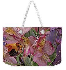 Lily Profusion 7 Weekender Tote Bag by Lynda Lehmann