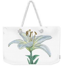 Lily Watercolor Weekender Tote Bag