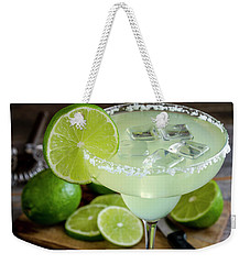 Weekender Tote Bag featuring the photograph Lime Margarita Drink by Teri Virbickis