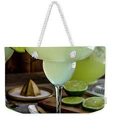 Weekender Tote Bag featuring the photograph Lime Margaritas by Teri Virbickis